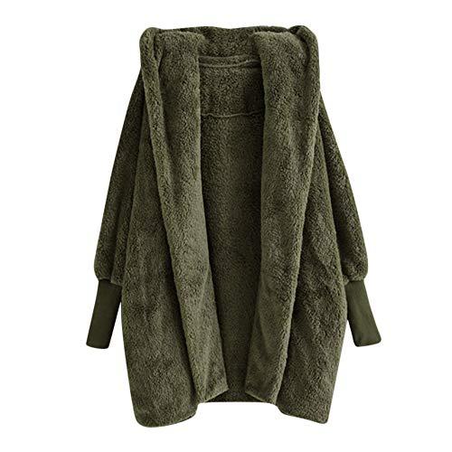 TOPKEAL Jacke Mantel Damen Herbst Winter Sweatshirt Steppjacke Kapuzenjacke Warm Hoodie Plüsch Taschen Pullover Baumwollmantel Outwear Coats Mode Tops... -