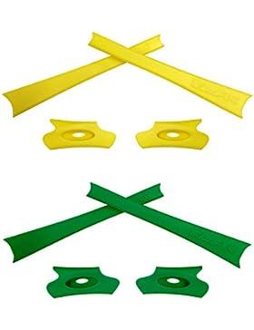 HKUCO Yellow/Green Replacement Rubber Kit For Oakley Flak Jacket /Flak Jacket XLJ Sunglass Earsocks