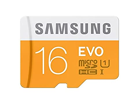 Samsung Carte Mémoire EVO Micro SD Classe 10 16 Go Avec Adaptateur SD