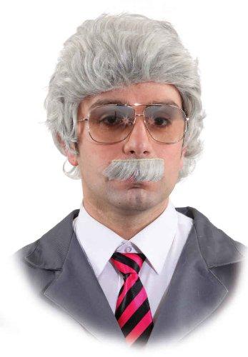 Herren Opa Kostüm - Orlob Herren Perücke mit Bart in grau zum Opa Kostüm Großvater zu Karneval