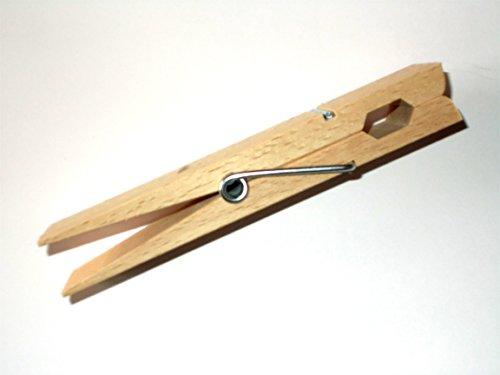 ERRO Riesen Holzklammer 150mm aus Buchenholz als Deko, XXL Holz Wäscheklammer, Bastelbedarf, Dekoidee, Bastelzubehör, Do it Yourself, Bastelsachen für die Kinderbetreuung