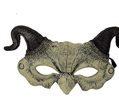 Teufel Maskerade Maske - LUZEO Halloween Maske - Horn Teufel