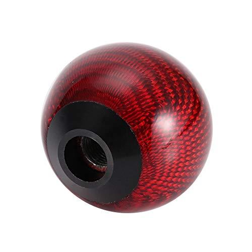 Schaltknauf, Universal Carbon Auto Schaltknauf Head Shifter Hebel Mode Auto Zubehör (Red) -