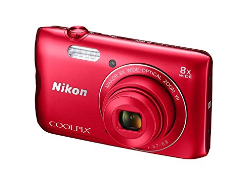 Nikon Coolpix A300 20.1MP Point and Shoot Camera with 4x Optical Zoom (Red)