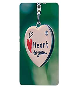 ColourCraft Love Heart Chain Design Back Case Cover for SONY XPERIA C5 ULTRA DUAL