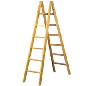Scala in legno facal per pittura 8 gradini doppia salita for Gradini in legno massello prezzo
