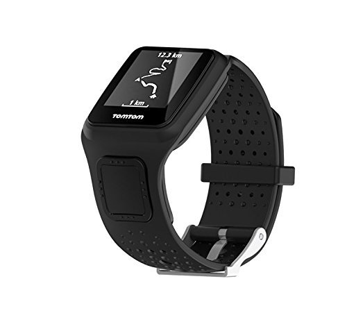 MTSZZF Replacement Soft Silicone Gel Watch Band Strap Sport Wristband for TomTom Runner/Multi Sport/Cardio GPS Strap Running Smartwatch (One Size)
