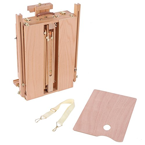 Easel Stand, 1pc Wooden Standing Easel, Table Painting Easel, Sketch Box Portable Folding Artist Painters Easel Paint Sketch Drawing Box Tripod Stand (Large(6.4kg))