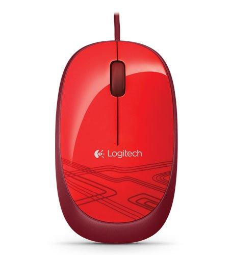 Logitech M105 Optische Maus schnurgebunden (USB, 3 Tasten, Advanced Optimal Tracking) rot