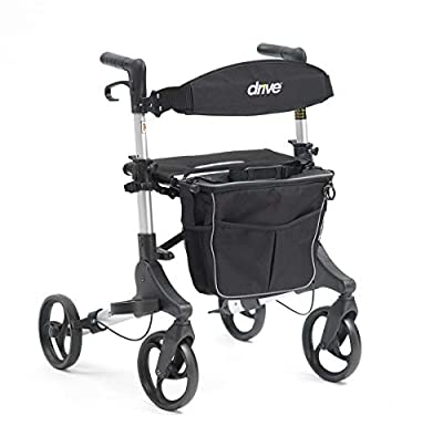 Drive folding Rollator with Seat, Backrest and bag