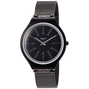 Swatch Reloj Analogico para Mujer de Cuarzo con Correa en Acero Inoxidable SVOB100M