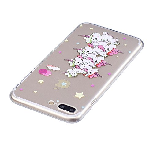 iPhone 7 Plus/iPhone 8 Plus 5.5 Hülle, Voguecase Silikon Schutzhülle / Case / Cover / Hülle / TPU Gel Skin Handyhülle Premium Kratzfest TPU Durchsichtige Schutzhülle für Apple iPhone 7 Plus/iPhone 8 P Unicorn 12