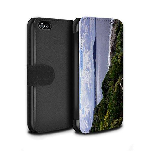 Stuff4 Coque/Etui/Housse Cuir PU Case/Cover pour Apple iPhone 4/4S / Bateau Ancré Design / Côte de la Colombie Collection Littoral