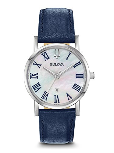 Bulova 96M146 American Clipper Women's Watch Blue 32mm Stainless Steel