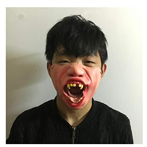 Longzhuo Halloween Spaß Horrible Scary Maske Party Narr Clown Latex Maske Cosplay Kostüm Halbe Gesichtsmasken - Clown Narr Kostüm