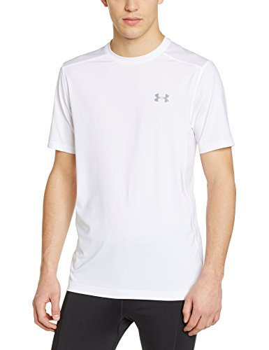 Under Armour Fitness Raid Short Sleeve Tee Herren Fitness - T-Shirts & Tanks, White 100, M, 1257466 (Fitted White Shirt)