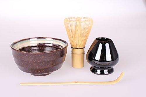 Goodwei japonés Juego de té Matcha con soporte para escoba (, 4piezas)