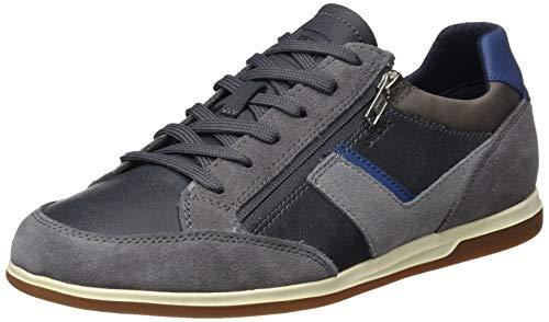Geox U Renan C, BasketsBasses Homme, Gris (Grey/Jeans C1f4w), 42 EU