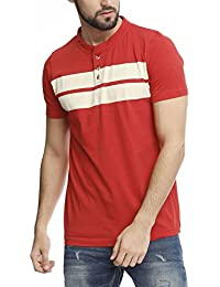 5IVE Degree CASROD Red Slim Fit Stripe T-Shirt