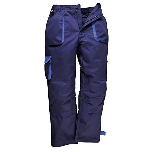 Portwest Herren Contrast Arbeitskleidung Hosen (Tx11) Schwarz, Marineblau - Marine, XL Regulär -