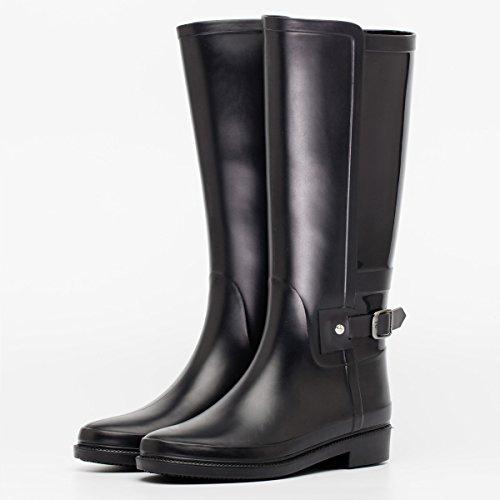 autunno e in inverno stivali impermeabili signora pioggia Black