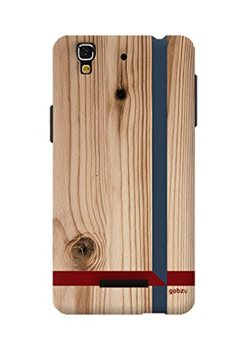Gobzu Printed Back Covers for Micromax YU Yureka Plus - Wooden Crossroads