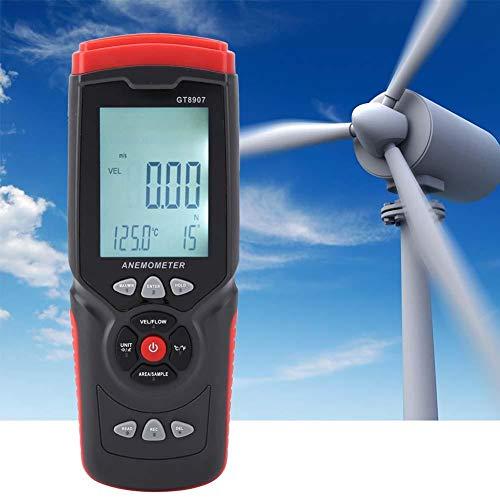Anemómetro Digital, medidor de Velocidad de Viento USB preciso de Mano Medidor de Temperatura de Rango...