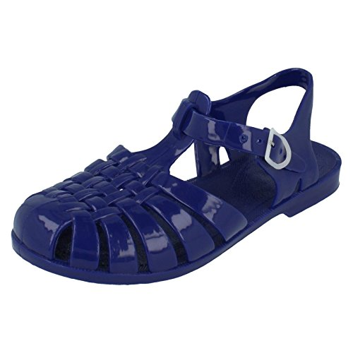 Girls Spot On Bout Fermé Jelly Sandales Bleu Marine