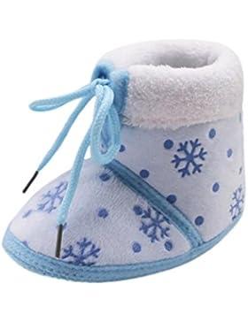 FNKDOR Kleinkind Weihnachten Neugeborene Baby Weiche Sohle Stiefel Warm Schuhe
