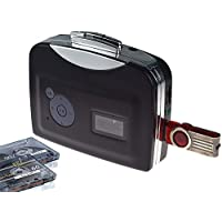 DIGITNOW! Convertidor y reproductor de cinta casetes ,Convertir audio cassette a MP3 digital ,Guardar en USB Flash Disk directamente -No requiere PC