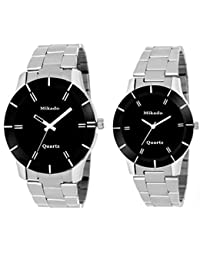 MIKADO Mk Lee Couple Unisex Watches Combo For Men And Women With One Year Warrenty Analog Watch - For Men & Women