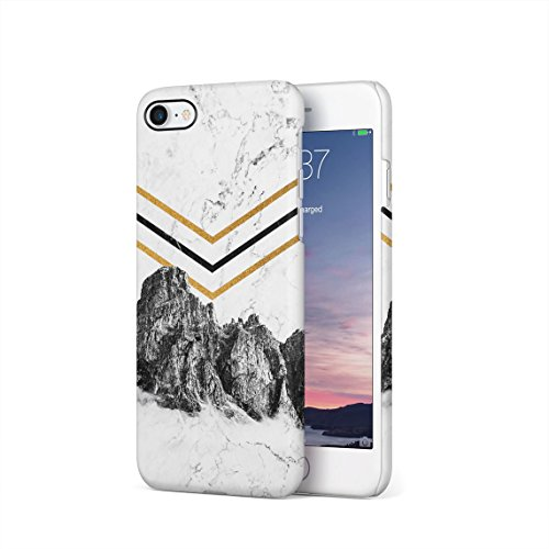 rocky-mountains-on-white-cracked-marble-hard-thin-plastic-phone-case-cover-for-iphone-7