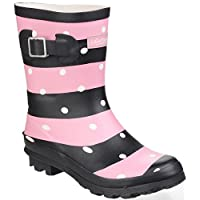 Cotswold Badminton Womens Synthetic Material Wellies Stripe - 3 UK