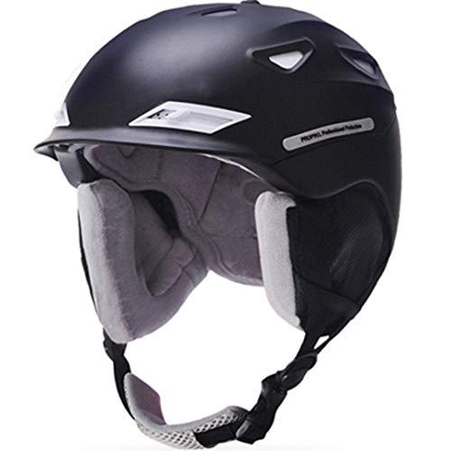 FERFERFERWON Casco Unisex Marca Uomo/Donna Casco da Sci Inverno Caldo Peluche Casco da Snowboard Moto Bike Ciclismo Maschera da Pesca Skateboard Slitta/Sci Sport Sicurezz