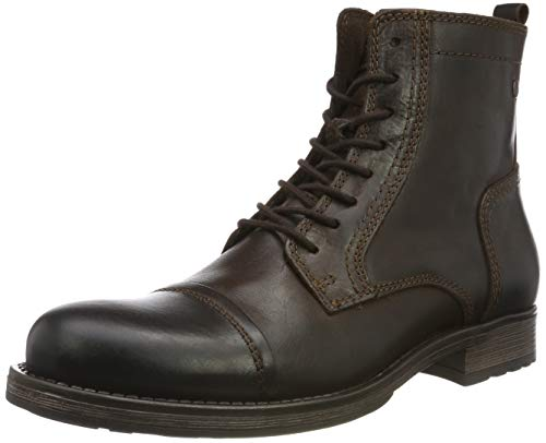 Jack & Jones Jfwrussel Leather 19, Stivali da Motociclista Uomo, Marrone (Brown Stone Brown Stone), 40 EU