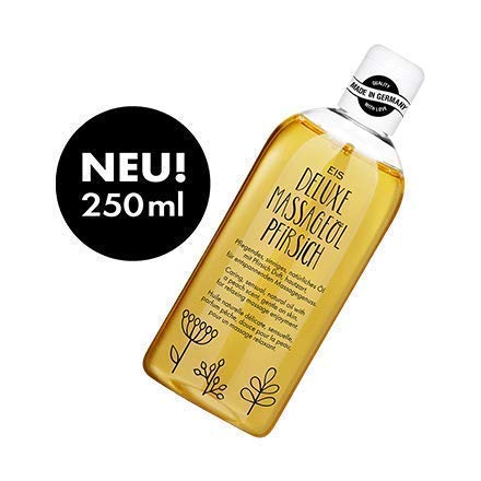 Deluxe Massageöl von EIS, Erotisches Massage Öl, Pfirsich Aroma, 250 ml