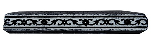 Vintages Blumenmuster-Block Hand geschnitzte Textilgewebe Drucken Holz-Stempel (Holz Vintage Geschnitzt Hand)