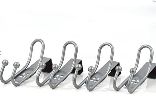 4er Set Türhaken Türgarderobenhaken Kleiderhaken Badezimmerhaken Metall