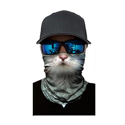 Unisex Herren Frauen Reiten Maske, mamum Radfahren Motorrad Kopf Schal Halswärmer Gesichtsmaske Ski Sturmhaube Haarband Einheitsgröße C