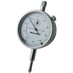 Silverline 196521 - Reloj comparador métrico (0, 10 mm) + 793828 - Galga de espesores 13 hojas (0,05 – 1 mm)
