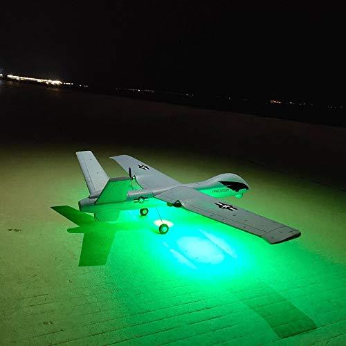 ELVVT Leichte RC Flugzeug 2,4G 2CH Predator Fernbedienung 660mm Spannweite Schaum Hand werfen Segelflugzeug Drohne DIY Kit Kinder und Erwachsene Geburtstag (Größe : Light Version)