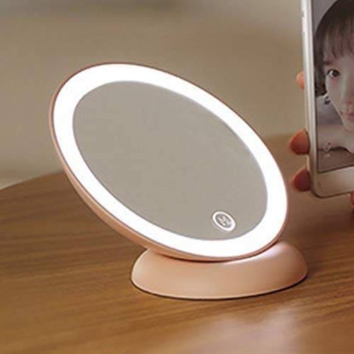 ZDXS Tragbarer Touch Screen LED Schminkspiegel Mit Licht Drehbare Tischleuchte Tischleuchte...