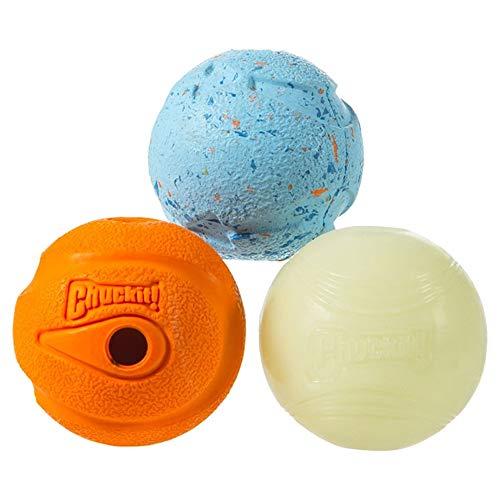 Chuckit! Fetch Medley Asst Spielball für Hunde, Farbe zufällig, Größe M, 3-teilig