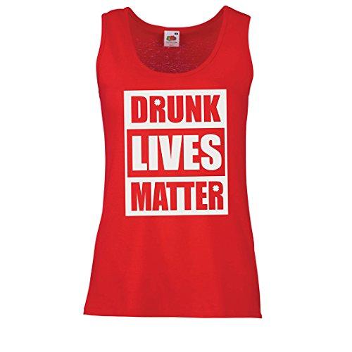 lepni.me Serbatoio,Maglietta Senza Maniche Femminile Drunk Lives Matter Funny Saint Patricks Abbigliamento da Giorno di San Patrizio Rosso Multicolore