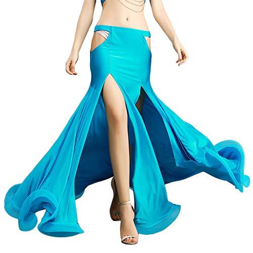 ROYAL SMEELA Sexy schlanker Bauchtanz Rock Slit aushöhlen Tanzenröcke Bauchtanz Kostüm Outfit Frauen Performance Kleidung Split Mermaid Maxi Rock - Mermaid Tanz Kostüm