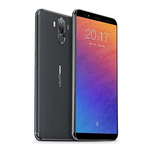Ulefone Power 3 Smartphone ohne Verstrag - 6 Zoll 18:9 FHD+ Display, Octa-Core Prozessor, 6 GB + 64 GB, Vierfache Kameras, Android 7.1, Face ID & Finger ID, 3A Quick Charge, Dual-SIM(Nano) Schwarz