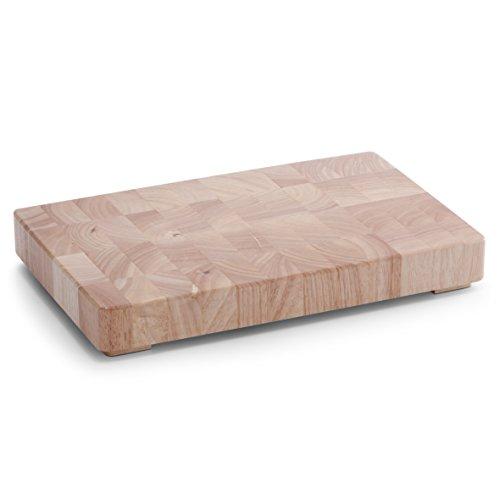 Zeller 24801 - Tabla de cortar, 42 x 27 x 5.5 centímetros, madera de caucho