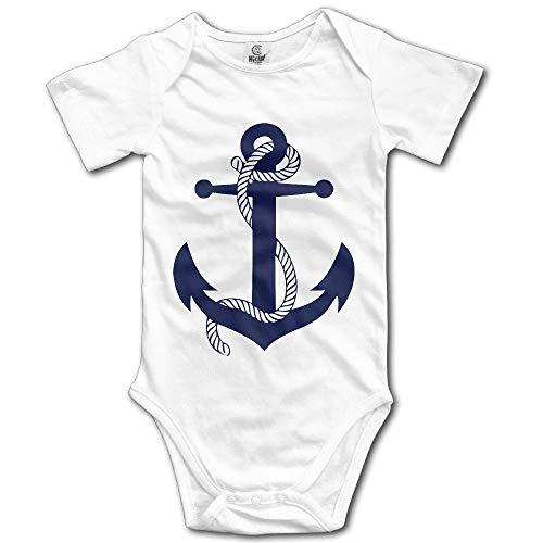 Unisex Bodysuit Anchor Logo Newborn Clothes Onesies 12 Months Anchors Away Dress