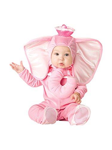 Elephant Damen Kostüm (Pink Elephant - Kinder- Kostüm - 12 bis 18 Monate)