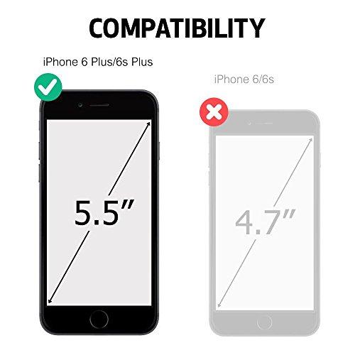 """BELK Iphone 6 plus/Iphone 6s plus(5,5"""") fait main style Premium Étui en cuir véritable à rabat avec fermeture magnétique de haute qualité style rétro Elegent [] [Fonction] [stand-view Fonction] [ulthe - ecru"""
